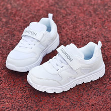 Children Kid Baby Girls Boys Striped Light White Shoes Sport Sneaker Shoes Hook & Loop Solid Soft Breathable Mesh Baby Shoes(China)