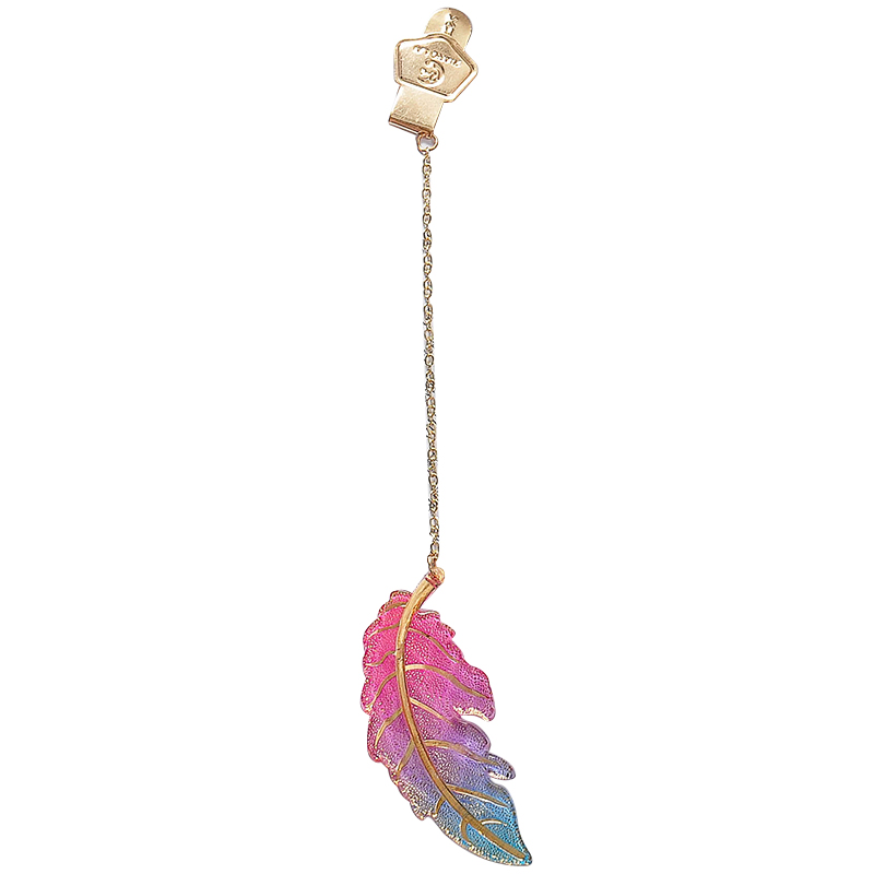 Cute Flower Leaf Pendant Metal Plastic Bookmarks School Office Supply Creative Stationery Book Marker Page Clip Student Gift New