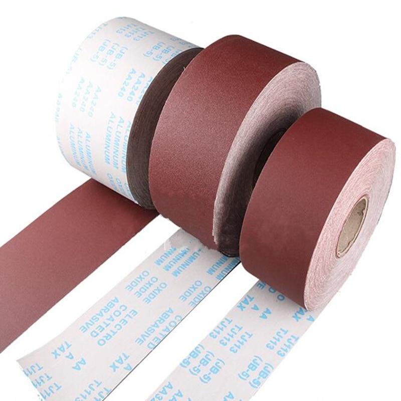 1M High Quality Abrasive Sanding Belts Abrasive Paper Cloth Roll Polishing Sandpaper Metalworking Grinding Tool
