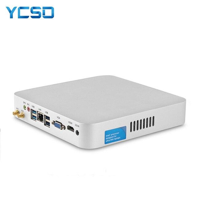 Hly 코어 i7 7500u i7 4500u i5 4200u 미니 pc windows 10 미니 컴퓨터 htpc minipc hdmi wifi usb3.0 가정용 pc