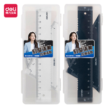 Ruler Straightedge Protractor Geometry DELI 79510 Drafting-Supplies Triangle