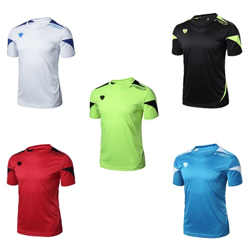 FANNAI Men Gym Shirt Running Shirts Quick Dry Fitness T-shirt Men's Tops Tees Clothing Short sleeve Jerseys Gym Sportswear 2