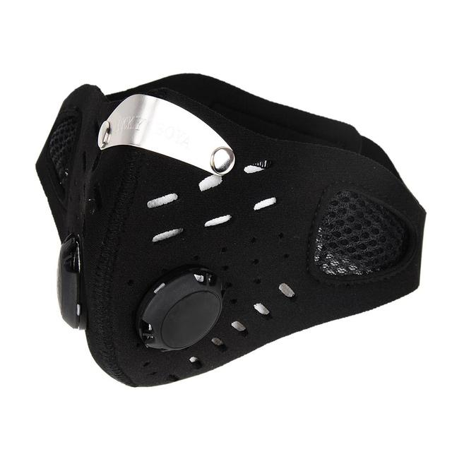 Cotton PM2.5 Black Anti Fog Mouth Mask Antidust Breathable Mesh Printing Mask Protective Respirator Bacteria Proof Flu Face Mask 3