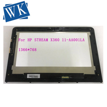 For HP STREAM X360 11-AA001LA X6X63LA 906791-001 Assembly lcd Panel Kit touch digitizer screen with frame Bezel Tested A+