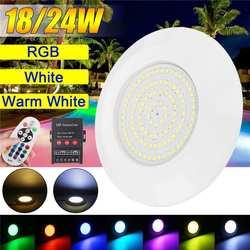 DC 12V 108 светодиодный светильник для бассейна RGB белый теплый белый водонепроницаемый IP68 RGB погружной светильник подводная Ночная лампа для у...