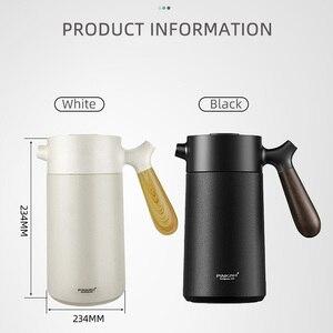 Image 5 - สูญญากาศ 950mlสแตนเลส 304 สแตนเลสมือกดกาแฟฉนวนกาต้มน้ำพร้อมที่จับธุรกิจกาแฟหม้อกรอง