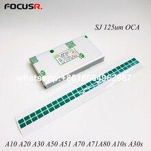 SJ OCA 125um optyczny wyczyść klej klej naklejki dla Samsung A71A10 A20 A30 A40 A50 A60 A70 A80 telefon komórkowy naklejki i powrót Flim