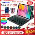 Чехол для samsung Galaxy Tab A 10 1  2019  чехол для клавиатуры T510 T515  SM-T510  кожаный чехол  7 цветов  с подсветкой  Bluetooth  клавиатура