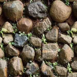 Image 2 - Impermeable Vintage 3D piedra efecto papel tapiz rollo moderno rústico realista imitación piedra textura vinilo PVC papel de pared decoración del hogar