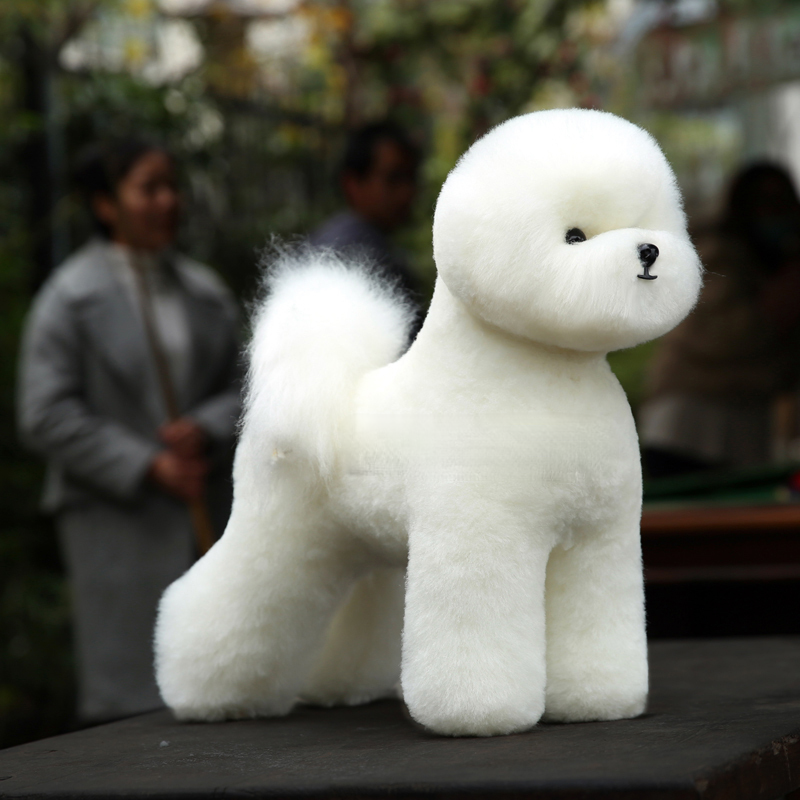 Model Dog For Grooming Practice Bichon Mannequin Set, 1 Pcs Bichon Dummy With 1 Pcs Bichon Body Wig