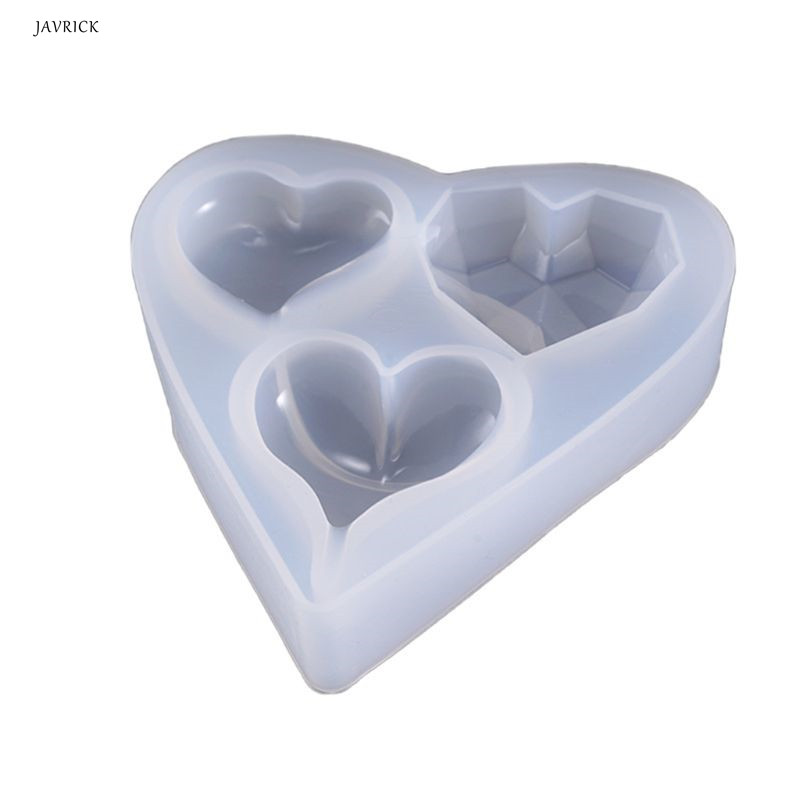 Transparent Love Heart Silicone Mold DY Making Epoxy Jewelry Beads Pendant Resin Casting Mould Tool