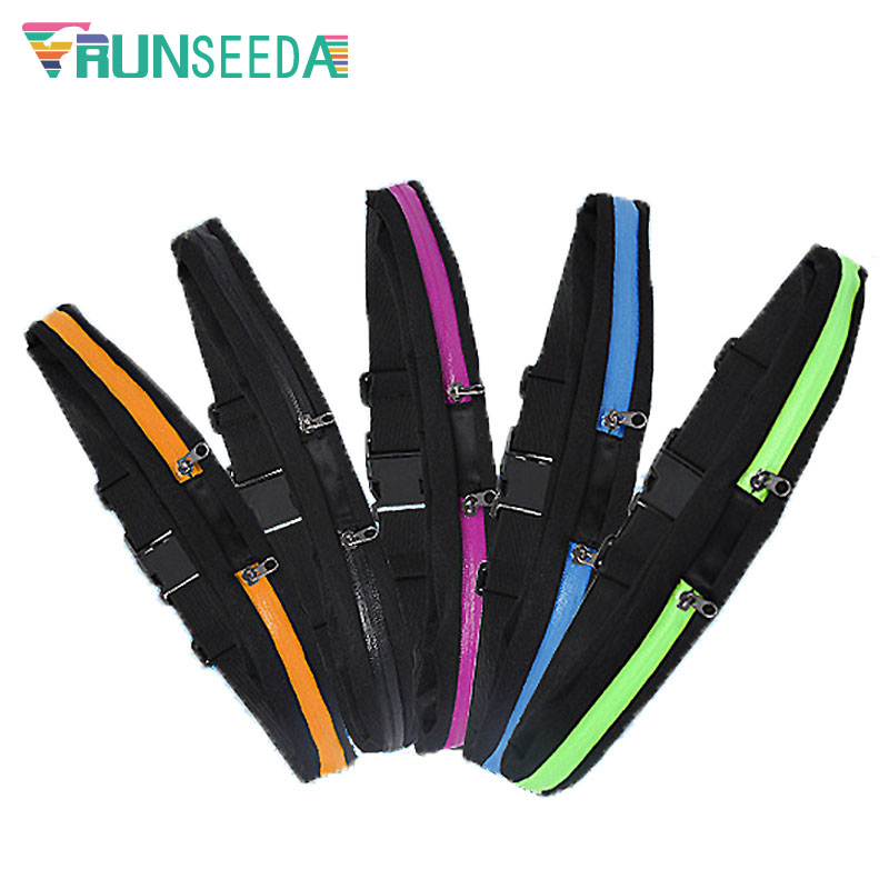 Runseeda Running Waist Bag Ladies Women Gym Fitness Jogging Belt Pocket Pouch Men Outdoor Sports Cycling Mobile Phone Holder Bag
