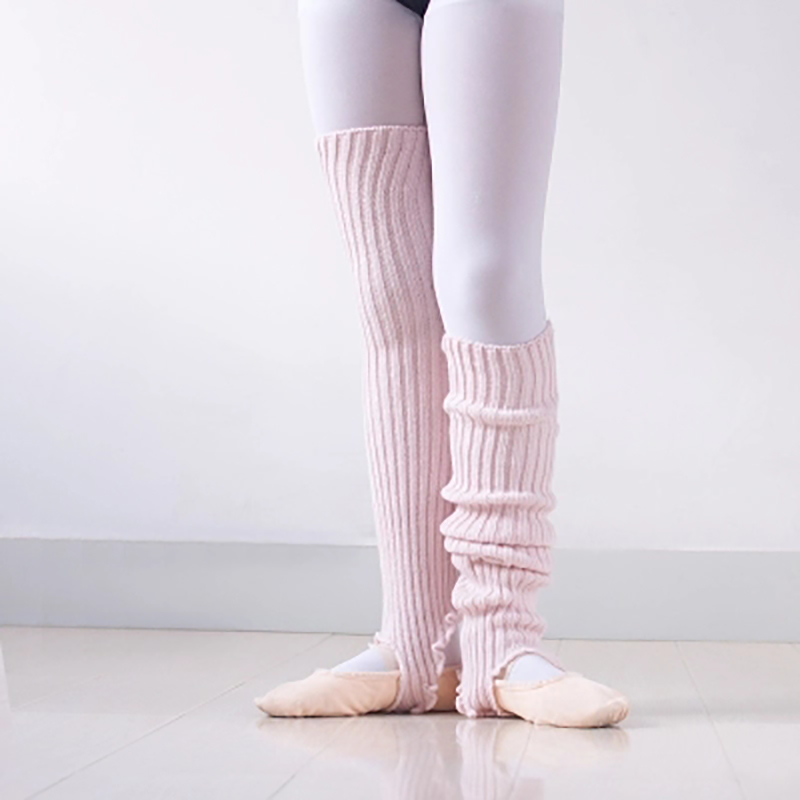 2020 New Girls Soft Dance Socks Kids Knitted Ballet Dance Leg Warmers Children Warmed Latin Dance Thermal Lagguard With Hole