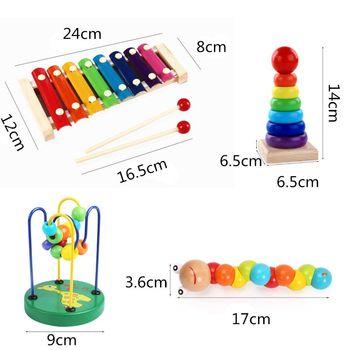 Drewniane zabawki Montessori dzieciństwa zabawka edukacyjna dla dzieci kolorowe drewniane bloczki tanie i dobre opinie CN (pochodzenie) Drewna 2-4 lat