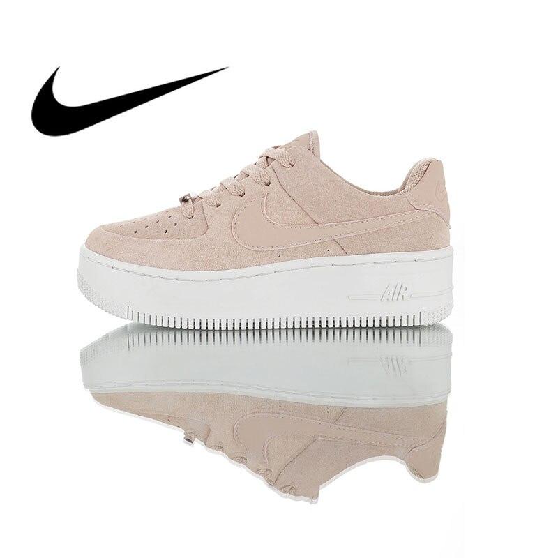 Original Nike Air Force 1 SAGE bas chaussures de skate femme mode baskets augmenter hauteur confortable Durable AR5339-201