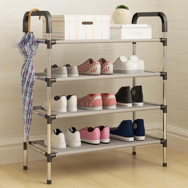Shoe Rack Metal Standing Shoe Rack DIY Shoes Storage Shelf Home Organizer Accessories Shoe Rack 3/4/5 Tiers
