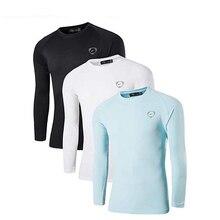 قميص رجالي من 3 عبوات موديل UPF 50 + UV للحماية من أشعة الشمس الخارجية بأكمام طويلة تي شيرت صيفي للشاطئ LA245 PackD
