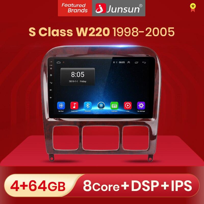 Junsun V1 pro أندرويد 10 لمرسيدس بنز S الفئة W220 S280 S320 S350 S400 S430 S500 S600 1998 - 2005 راديو السيارة الوسائط المتعددة DVD