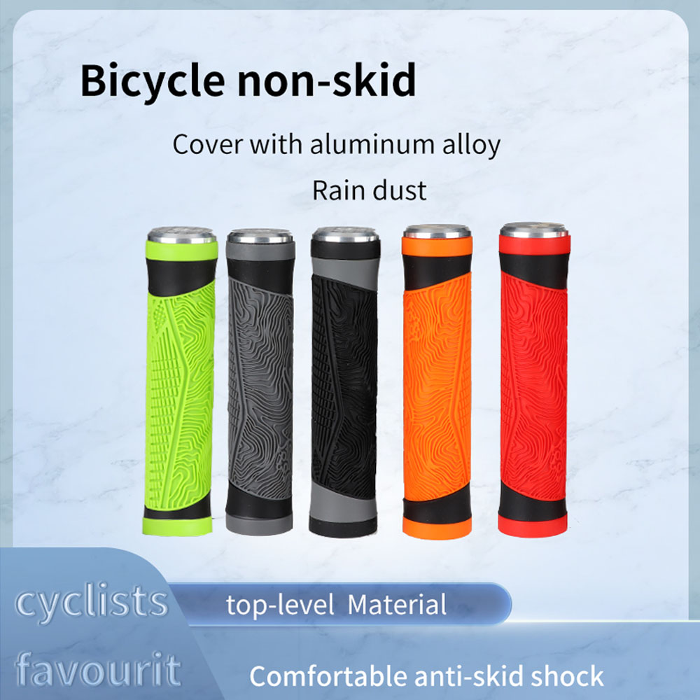 Scooter BMX Folding Bike ENLEE Bike Handle Grips Mountain Bike Handlebar Grip with End Caps Soft Bicycle Grip of Non-Slip Rubber for MTB 3 Colors Tricycle Wheel Chair