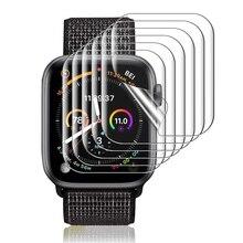Экран протектор прозрачный полный защитный TPU пленка для iWatch 4 5 6 SE 40 мм 44 мм не закаленное стекло для Apple Watch 3 2 1 38 мм 42 мм