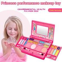 Высокое качество девушка макияж набор игрушки тени, блеск для губ румян принцесса косметический набор для девочек