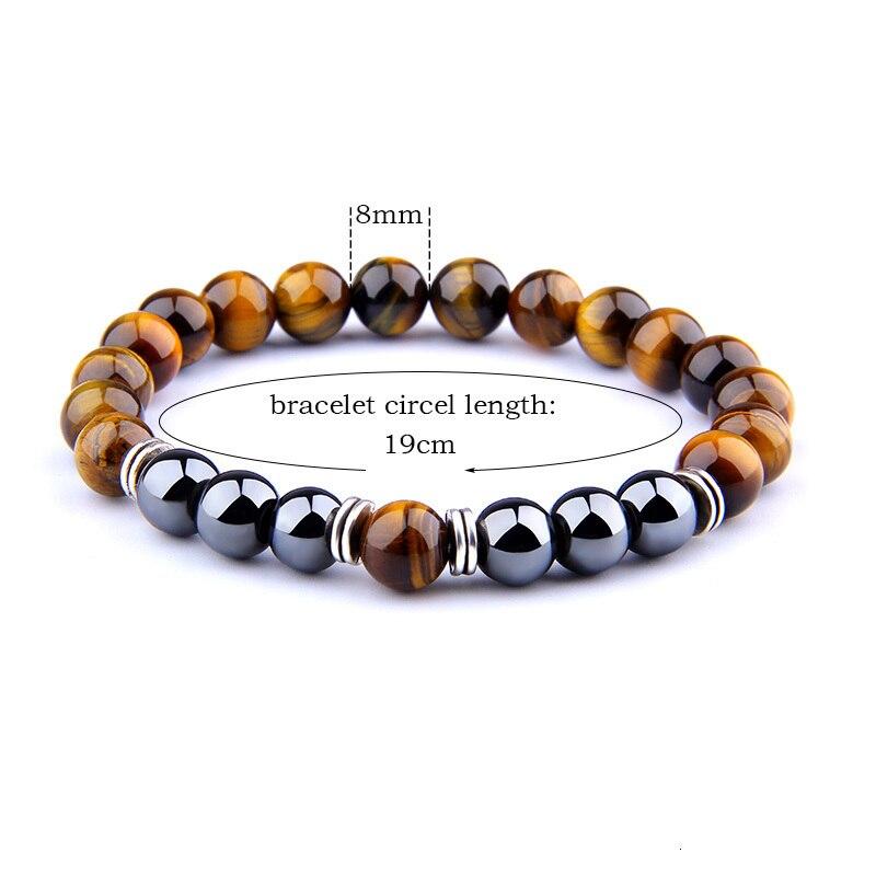 Hd8b76daf68134af29a146b7167bf55e9v - Natural Tiger Eye Beads Bracelet For Women Health Care Hematite Stretch Bracelets Men charm Fashion Jewelry Pulsera Hombre gift (Tiger eye)