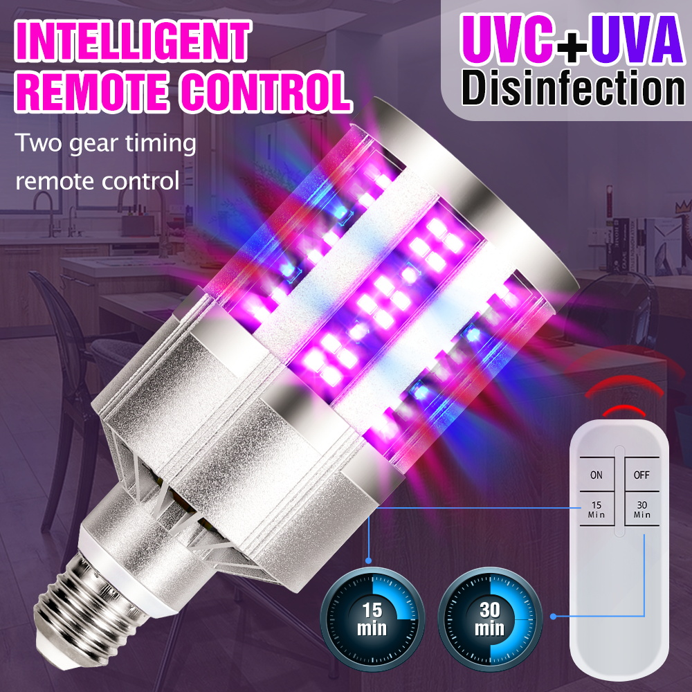 9 18 Led UVC Germicidal Lamp E27 Led UV Light Sterilizer 220V Ultraviolet Disinfecting Led Corn Bulb 110V Home Bactericidal Lamp