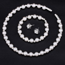 Real Pearl Jewelry White Natural Broque Freshwater Pearl Necklace Bracelet For Women Trendy Gift nymph pearl jewelry natural freshwater pearl necklace pendant new trendy 9 10mm white round crown gift for girl 31cm x243