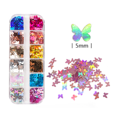 Holographic Butterfly Sequin Nails Glitter Laser Shiny Nail Slice Set Spring Manicure Design Decoration Accessories Tools