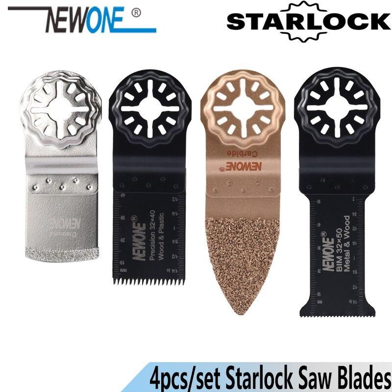 NEWONE Starlock 4pcs/set Carbide/Diamond Saw Blades Fit Power Oscillating Tools Multimaster Renovator For Ceramic Work