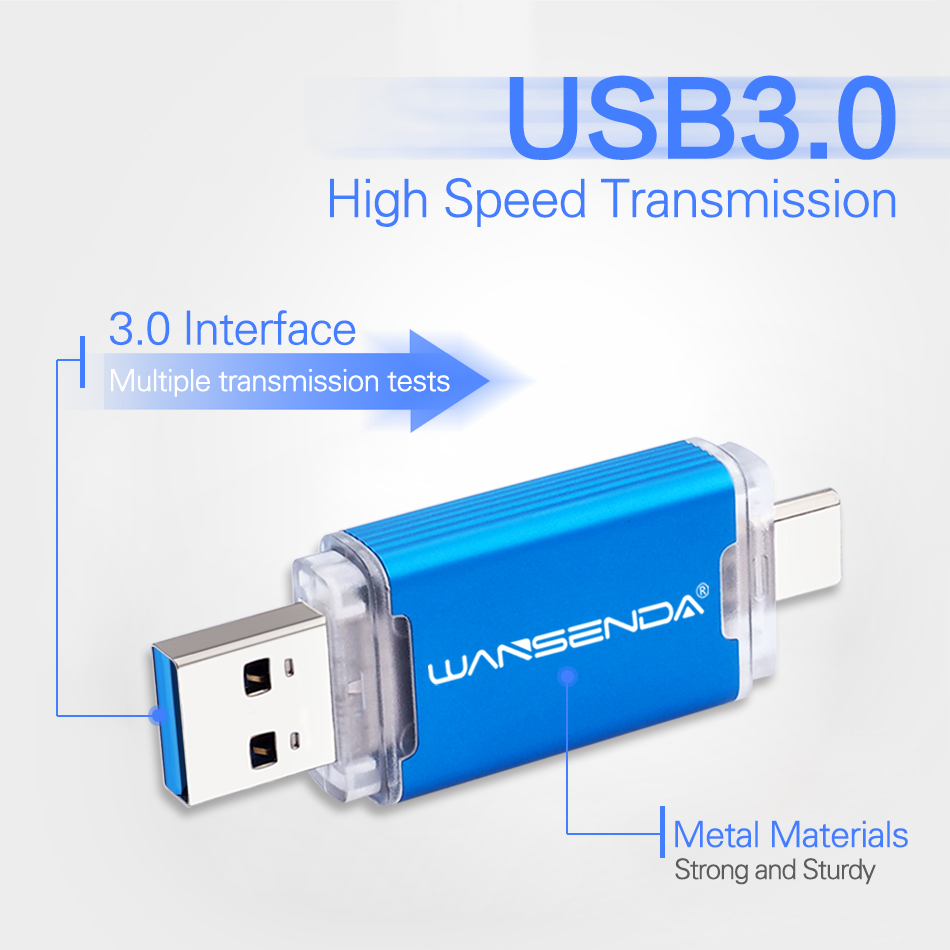 for USB,Android and Type-C 32G 3 in 1 USB Flash Drive External Storage
