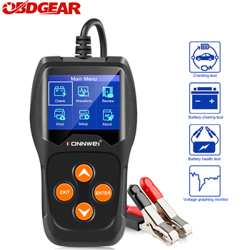 KONNWEI KW600 Car Battery Tester 12V Analyzer 100 to 2000CCA Test Battery Health/Faults 12V Digital Color Screen Auto Diagnostic digital 12v car battery tester vehicle car lcd battery test analyzer auto system analyzer voltage ohm cca test diagnostic tools