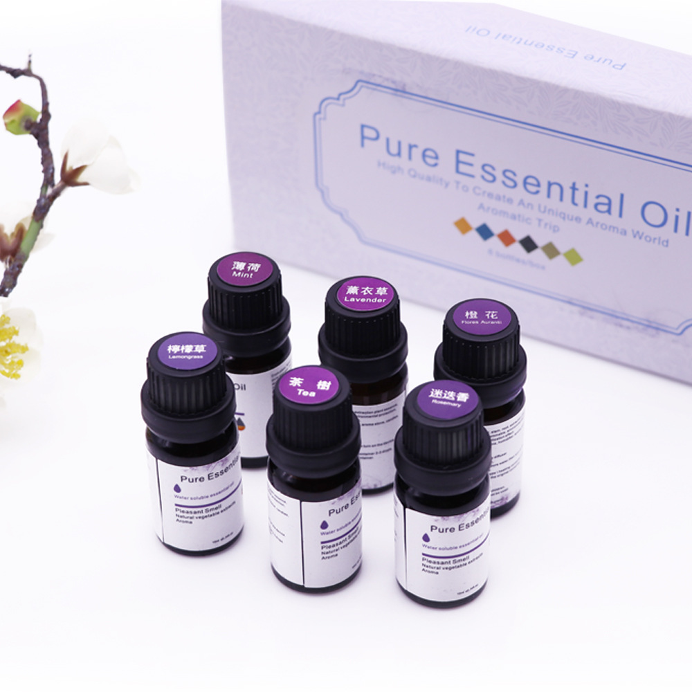 1PCS Water-soluble Essential Oils For Humidifier Fragrance Lamp Aroma Diffuser Lavender Lemon Sandalwood Cherry Blossom Body Oil