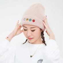 Winter Embroidery Skull Beanies For Women hip hop Warm beanies female Caps