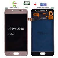 Pour Samsung Galaxy J2 pro 2018 J250 J250F écran LCD et écran tactile numériseur assemblée Grand Prime Pro lcd ajuster la luminosité