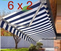 6*2m Manual retractable canopy Waterproof Gazebos Telescopic sheds Sunproof awning