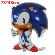 Sonic-Balloon Toys Party-Supplies Globos Wedding-Decorations Happy-Birthday Foil 10pcs/Lot