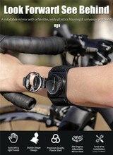 Велосипедный Спорт наручные Зеркало заднего вида ношения на руке 360 градусов вращение выпуклое зеркало Crystal Clear View Аксессуары для велосипед...