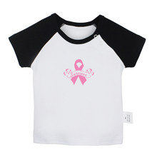 Survivor Pink Ribbon Girl Power Red Rose Design Newborn Baby T-shirts Toddler Graphic Raglan Color Short Sleeve Tee Tops(China)