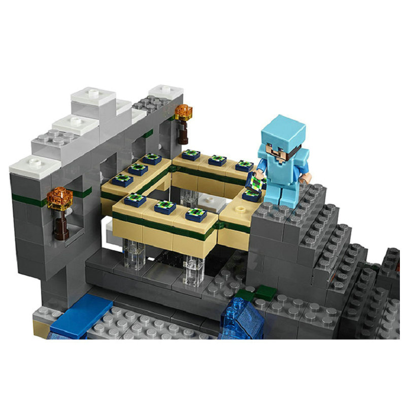 The End Portal Building Blocks With Steve Action Figures Compatible LegoINGlys MinecraftINGlys Sets Toys For Children 21124 4
