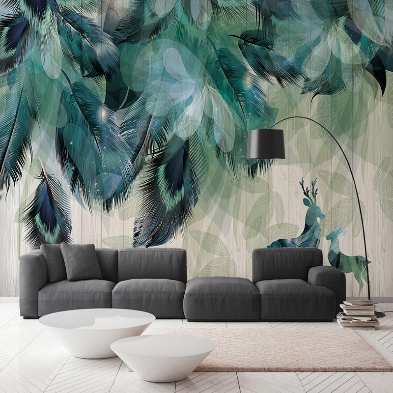 Custom Mural Wallpaper Modern Simple Feather Abstract Art Wall Painting Living Room Bedroom Home Decor Wall Papers For Walls 3 D