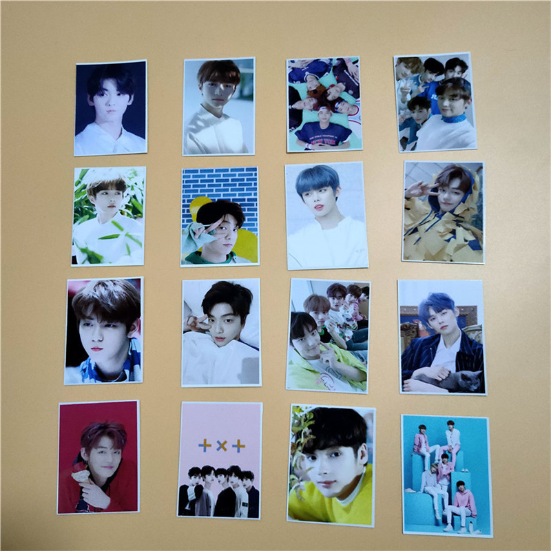 16pcs/set Kpop TXT Fanmade Photocards 4
