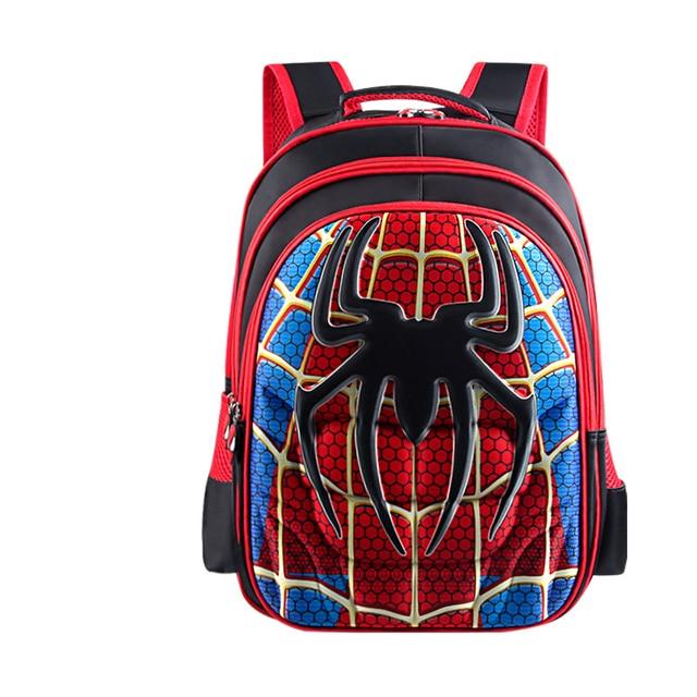 3D 4 13 Year Superman Batman Captain America Boy Girl Children Kindergarten School bag Teenager Schoolbags
