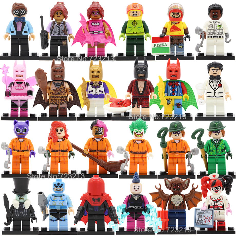 Single Fairy Lobster Batman Figure DC Super Hero Zodiac Master Mime Man-Bat Two-Face Barbara Building Blocks Models Toys Legoing