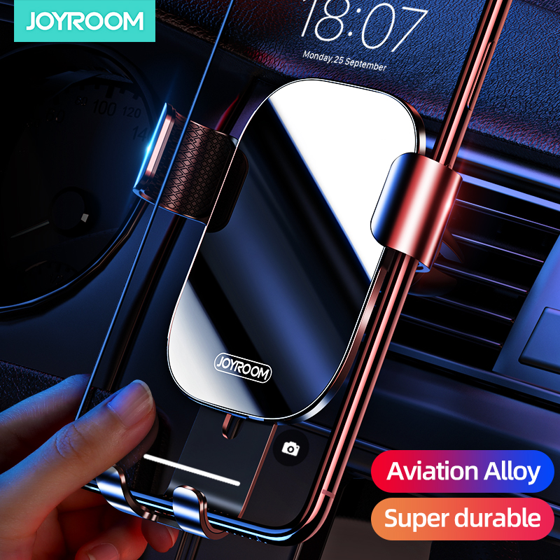 Joyroom Universal Car Phone Holder Air Vent For Phone In Car Mount Stand  Mobile Phone Holder Stand Gravity Smartphone Cell
