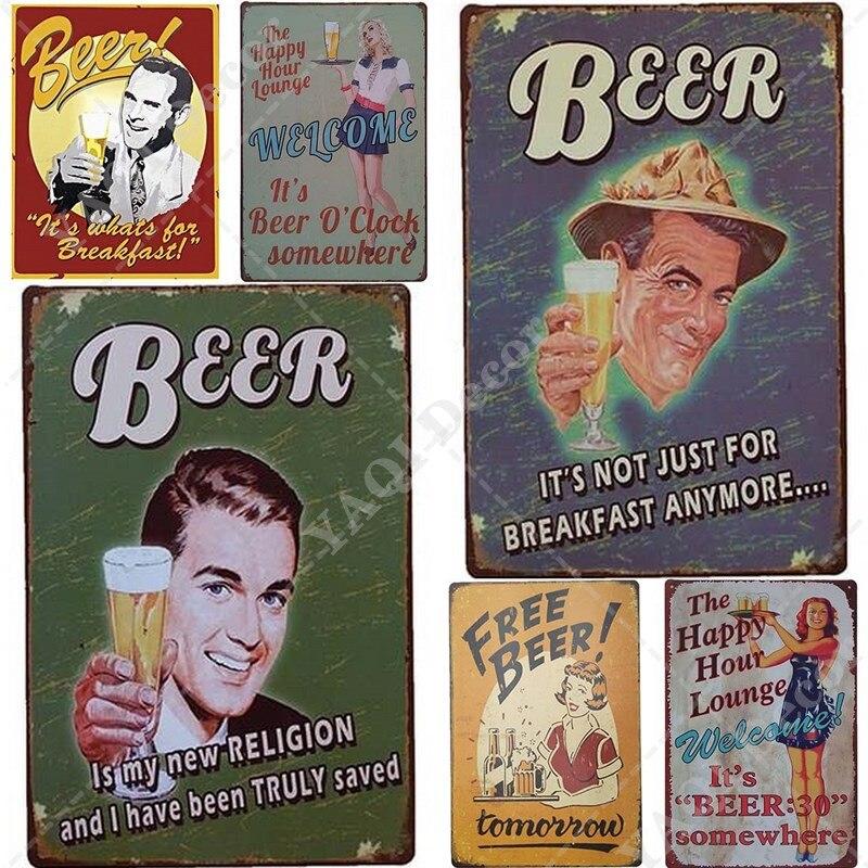 Пива металлический знак доска Металл Винтаж жестяной паба металлическая