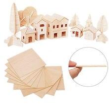 10 шт пробкового дерева простыни ремесла древесные опилки Пластина