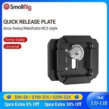 SmallRig Quick Release Platte Für Arca Swiss und Manfrotto RC2 Stil Grundplatte Montieren Zu Stativ Video Schießen Zubehör 2364