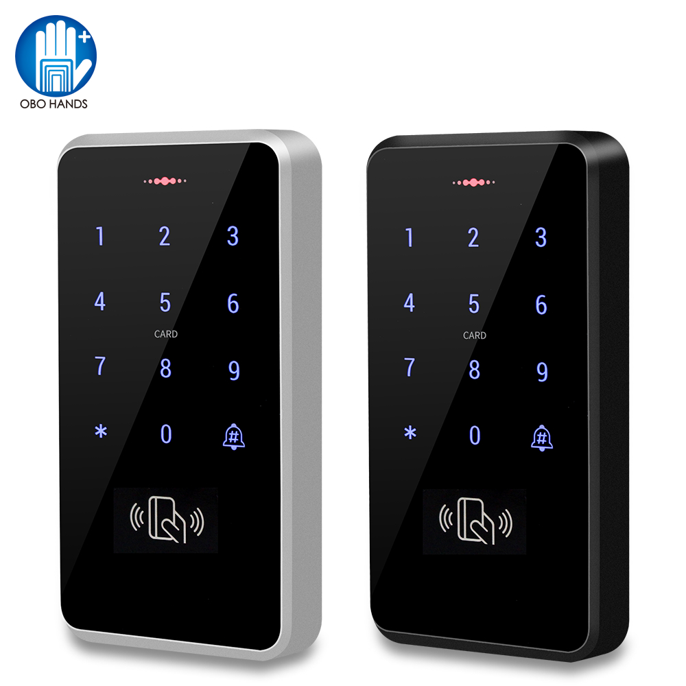 IP68 Waterproof Access Control Keypad Outdoor RFID Access Controller Touch Door Opener System Electronic EM4100 125KHz Key Cards