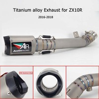 Motorcycle Exhaust Muffler Escape Bend Middle pipe titanium alloy Link Pipe Slip On For KAWASAKI zx10r zx 10R 2016 2018